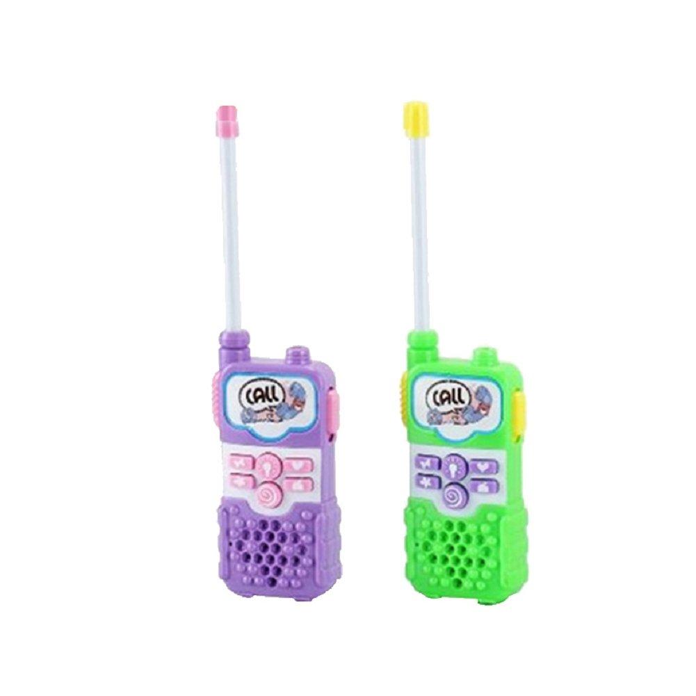 2 x Electronic Mini Intercom Walkie Talkie Kids Portable Two-Way Radio Toy Gift