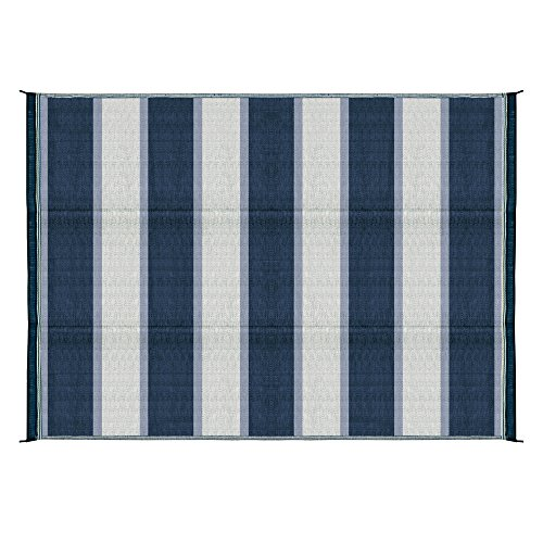 Camco 42871 Awning Leisure Mat-Blue Stripe 6' X 9' ()