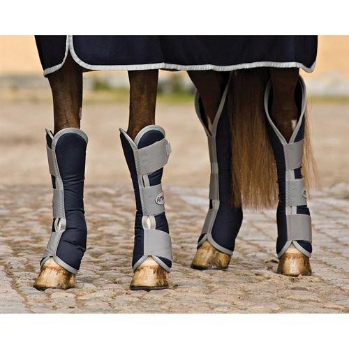 amiGO Travel Boots Horse Navy/Silver by amiGO