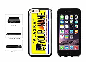 Personalized Custom Alaska License Plate TPU RUBBER SILICONE Phone Case Back Cover iPhone 6 (4.7 inches)