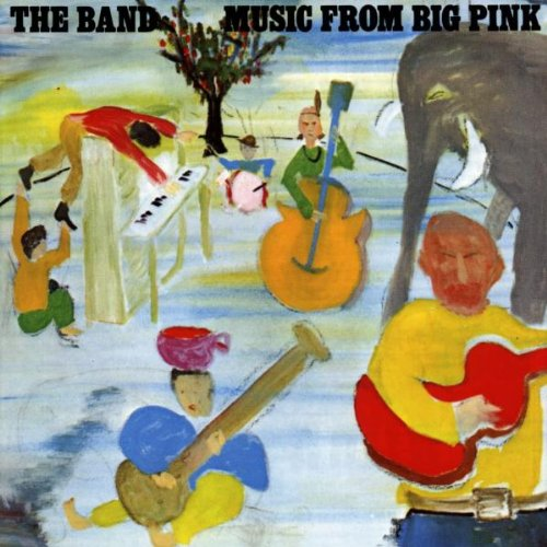 Release music from big pink by the band cover art