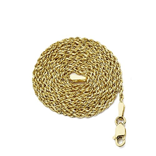 1.5 Mm Solid Rope - MR. BLING 10K Yellow Gold 1.5mm 18