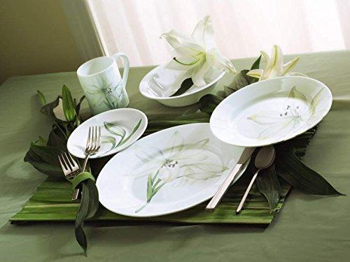 Amazon.com | Corelle Impressions White Flower 16-Piece Dinnerware Set Service for 4 Corelle Plates Dinnerware Sets & Amazon.com | Corelle Impressions White Flower 16-Piece Dinnerware ...