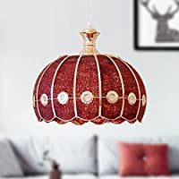 European Style Creative Personality Single Head Warm Chandelier (Color : RED)