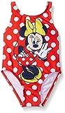 : Disney Toddler Girls' Minnie Polka Dot Swimsuit, Ruby, 4T