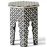 Butler Geometric Bone Inlay Small Table Handmade Home Restaurant Furniture