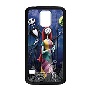 Generic Custom Tombstone Film The Nightmare Before Christmas Jack Sally Ghosts Halloween Black Case For Samsung Galaxy S5 (Laser Technology)