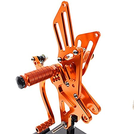 FXCNC Racing 09-14 R1 Motorcycle Rearset Foot Pegs Rear Set Footrests Fully Adjustable Foot Boards Fit For Yamaha YZF R1 2009 2010 2011 2012 2013 2014 Aluminum