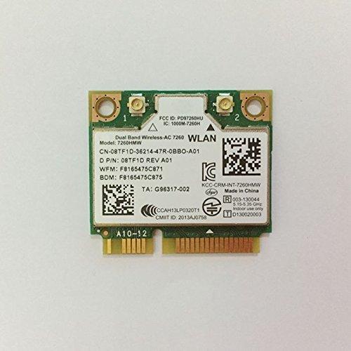 Dual Band Wirless - AC 7260 HMWG WiFi H/T 2x2 AC+Bluetooth 4.0 USE FOR INTEL AC 7260 HMC HALF MINI PCI-E CARD Support NUC by PJCARD