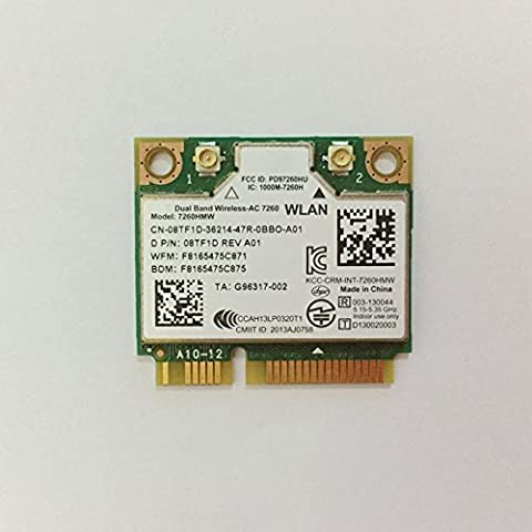 Dual Band Wirless - AC 7260 HMWG WiFi H/T 2x2 AC+Bluetooth 4.0 USE FOR INTEL AC 7260 HMC HALF MINI PCI-E CARD Support (Wifi Card Mini Pci)