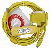 PLC Cable USB-SC09 For Mitsubishi RS422 FX0S/FX1S/FX0N/FX1N/FX2N full FX *YELLOW*