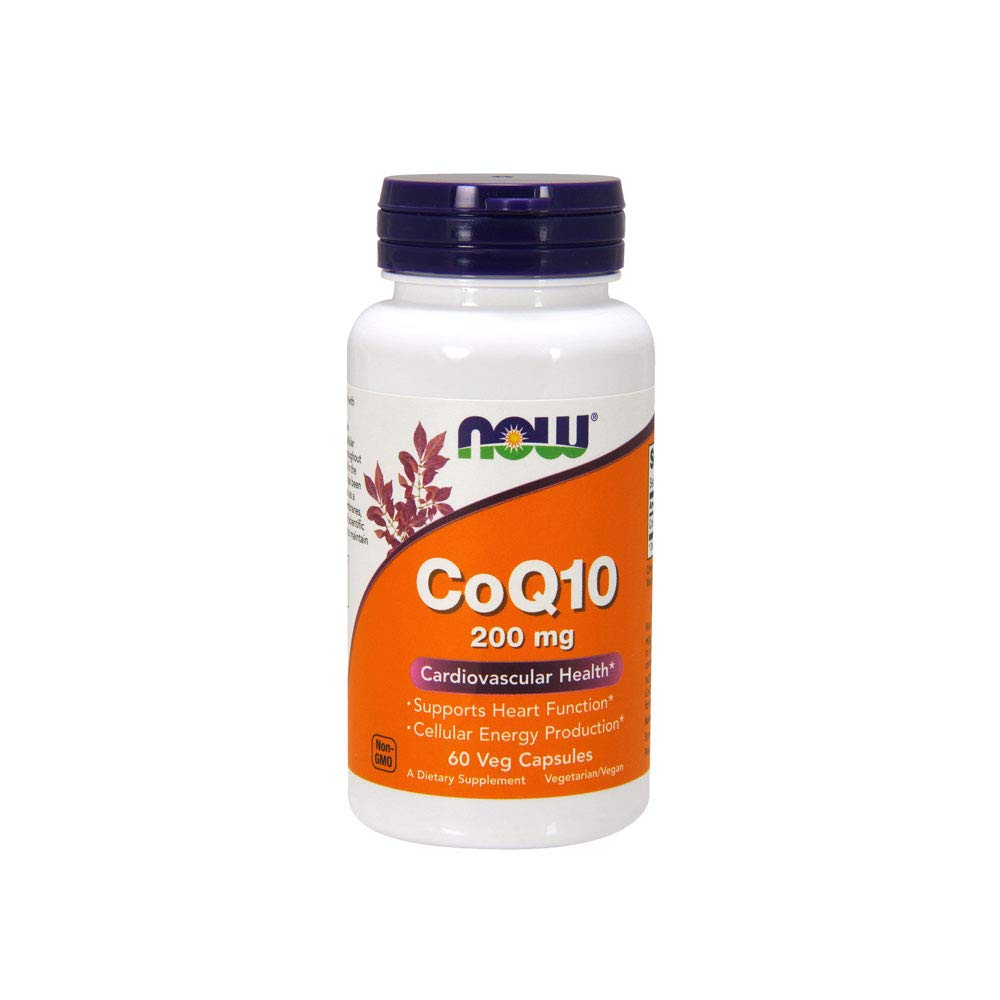 NOW Supplements, CoQ10 200 mg, 60 Veg Capsules