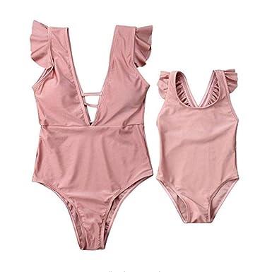 Hohe Taille Bikini Mom Baby Bikini Bademode Für Frauen Eltern-Kind-Badeanzüge