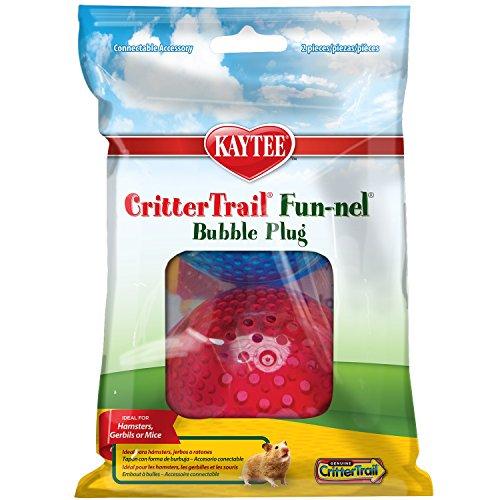 Bubble End - Kaytee CritterTrail Fun-nels Bubble Plugs, Assorted Colors, Set of 2
