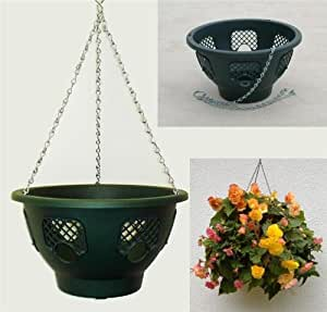 "EasyFill 15"" Hanging Basket (green) x 2"