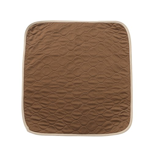 ECONAZOLE Ultra Soft Chair Pads 21x22 inch,Washable and Reusable Incontinence Underpads Seat Protector Pad for Adult, Child, Or Pets,Brown