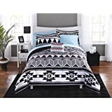 Tribal Black and White 6-pc Bed in a Bag Bedding Set (Twin/Twin XL)