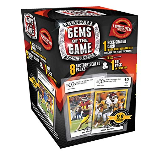Football Cards 18 Gems of The Game Value Box, Deck