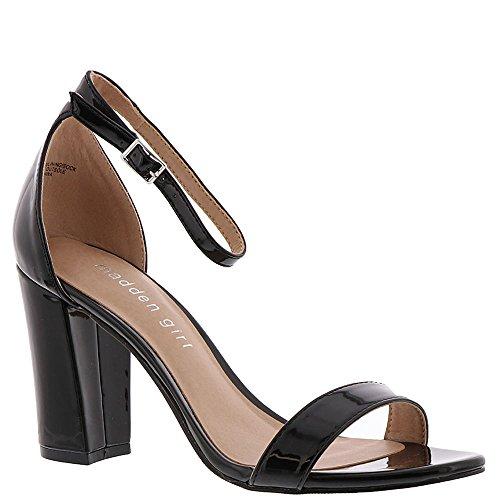 (Madden Girl Beella Women's Sandal 8 B(M) US Black-Patent)