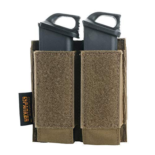 EXCELLENT ELITE SPANKER Tactical Open Top Double/Triple Pistol Mag Pouch for Glock M1911 92F Magazines 40mm Grenade(COB)