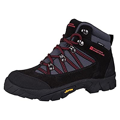 Mountain Warehouse Edinburgh Vibram Kids Waterproof Boot - Breathable Mesh Lining with Waterproof, Vibram Outsole, Suede Upper, Rubber Bumpers & EVA Footbed