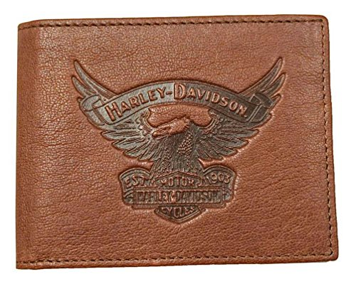 EE9041L w Men's Emboss ID Eagle Harley Billfold SCOTCH Wallet Removable Davidson Cz5qCwXng