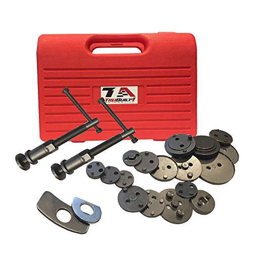 T1A Brake Caliper Wind Back Tool Set - 21 Piece Kit - Fits Chevrolet, Toyota, Ford, Nissan and MOST Other Domestic and Import Vehicles