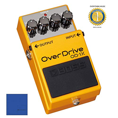 Boss OD-1X Overdrive Guitar Effects Pedal with 1 Year Free Extended ()