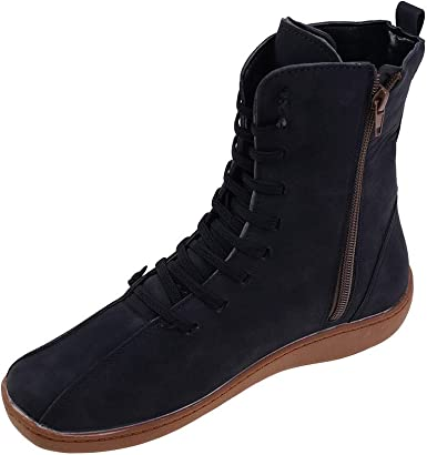 Final Fashion Quality Women Suede Leather Comfortable Casual Work boots Black