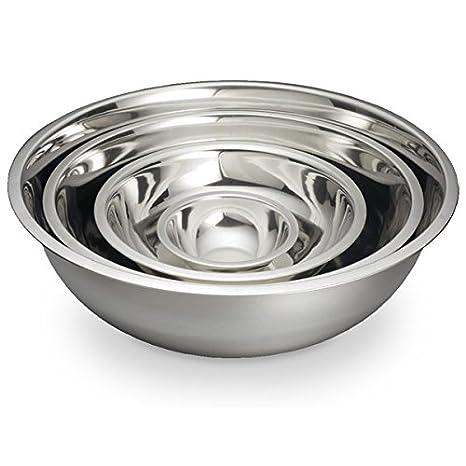 Amazon.com: chefland Bol para mezclar (grande, de acero ...