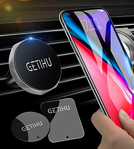 - GETIHU Car Phone Mount Universal Air Vent Magnetic Cell Phone Holder for iPhone X 8 7 6s 6 5s 5 Plus Samsung HTC Motorola BlackBerry Smartphone GPS Stand(Silver)