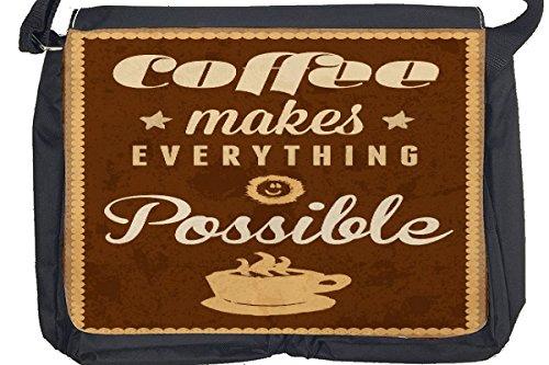 Borsa Tracolla Ristorante Cucine Citazione caffè Stampato
