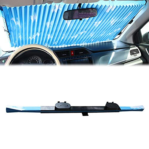 whenear Automatic Retractable Car Windshield Sun Shade-Blocks UV Rays Sun Visor Protector-Easy to Install and Use Adapt to Most Car Models(65/70cm) ()