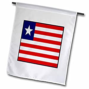 Florene World Flag Buttons - Photo Of Liberia Flag Button - 12 x 18 inch Garden Flag (fl_80995_1)