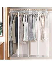 Hanging Garment Bags for Storage Garment Rack Cover Suit Bags Organizer Hanging Clothes Cover with Zipper Translucent Dustproof Waterproof for Suit Coats Jackets Dress