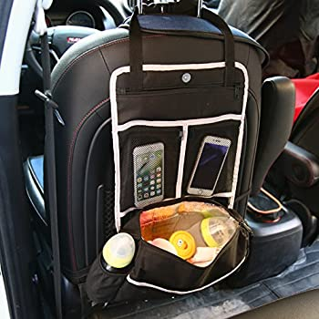 Artempo 5-In-1 Backseat Car Organizer, Trunk Organizer with Insulated Compartments for Drinks Cool and Other Accessories, Black