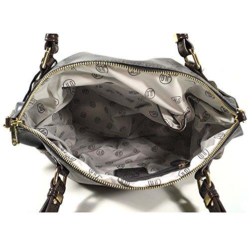 Jennifer Lopez Brill Schwarz 430NE 569 Damen Handtasche Tasche Henkeltasche Schultertasche Umhängetasche