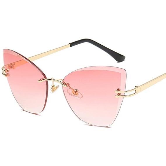 New Wayfarer Sonnenbrille Lady Vintage Sonnenbrille polarisierte Sonnenbrille Kategorie Mode rahmenlose Sonnenbrille UV400 Schutzgläser für Herren Damen ( Color : B ) Z5ZKuY