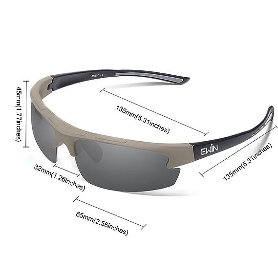 Ewin E52 Gafas de Sol de Deporte Polarizadas, TR62 Marco Irrompible, UV400 Protección, Gafas por Hombres y Mujeres, Golf, Ciclismo, Conducir, Pesca, ...