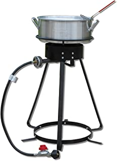King Kooker 1224 24' Cooker with 10 Quart Aluminum Fry Pan & Basket, OS, Multi