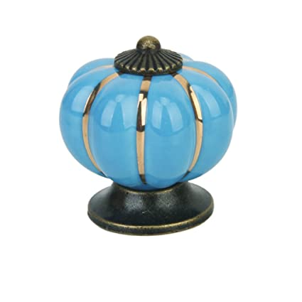 Sellbury Cute Pumpkin Drawer Cabinet Bin Dresser Cupboard Pull Knob Handle with Screw Blue