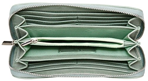 Faux with Finish Leather Wrist Ladies Green Wallet Strap Soft Suede Purse Felda Zwxpq1dZ
