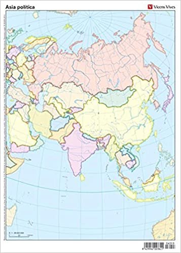 Mapa De Asia Mudo.Mapas Mudos Asia Politico 50 Color 8429962003621