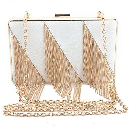 Elegant Wedding Women's Clutch Clutch Party Bag Handbag Chain Bag GSHGA Bag Shoulder White Bag Evening Bags xqwHY7p7