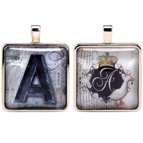 - Santa Barbara Design Studio Alphabet Letter Jewelry Charm by Artist Sally Jean, A for Always