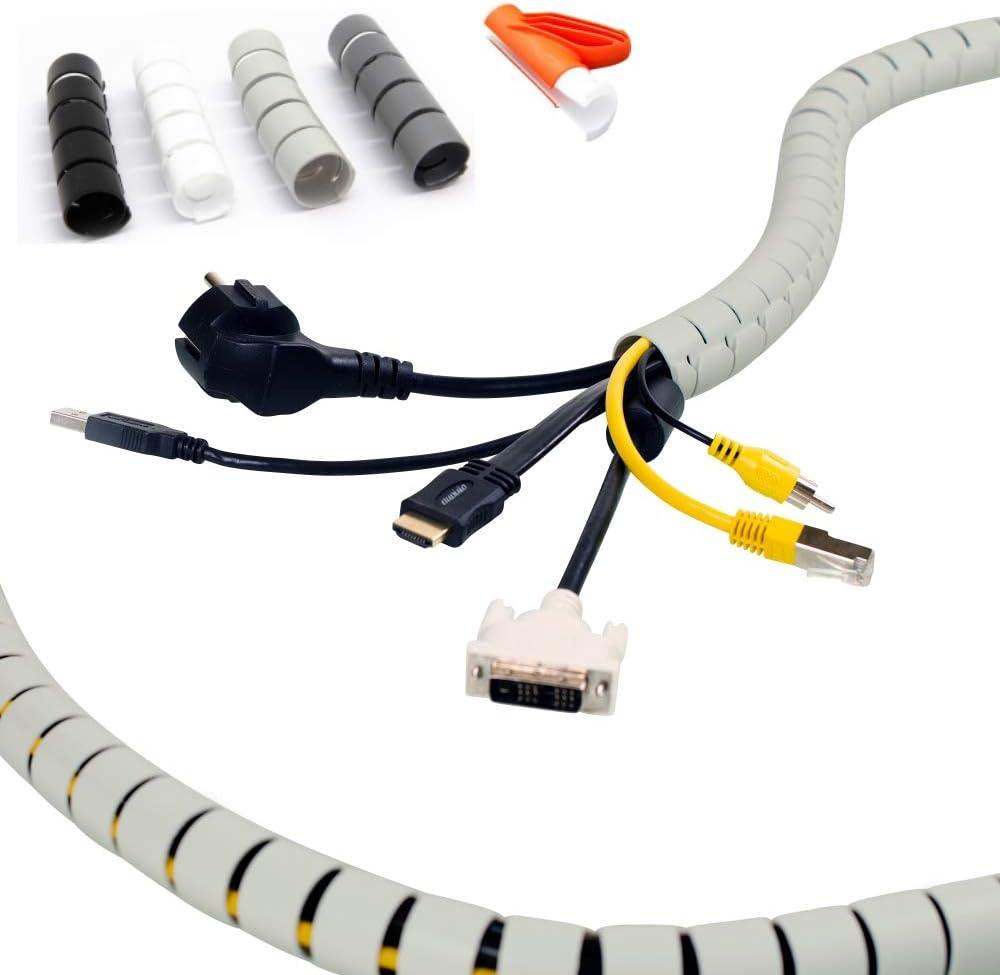 Kabelordnung Kabelschlauch Ø 25mm 3 8 Kabel 20m Lichtgrau Flexibler Kabelkanal Mit Einziehwerkzeug Kürzbar Kabeltunnel Als Sicherer Kabelschutz Baumarkt