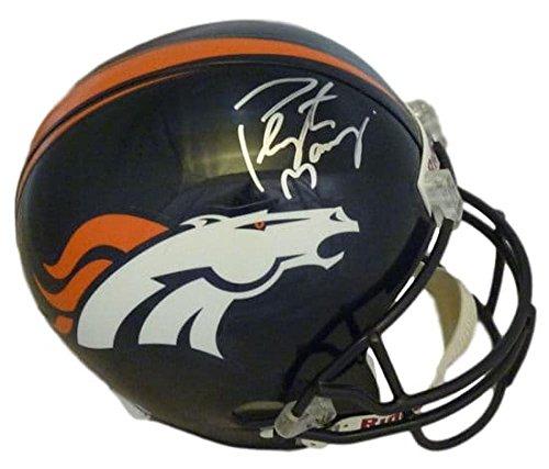 Peyton Manning Autographed/Signed Denver Broncos Replica Helmet JSA
