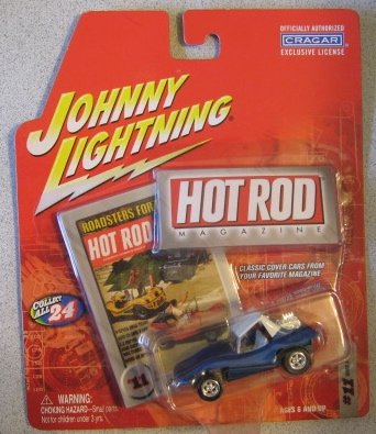 Johnny Lightning Hot Rod Magazine #11 Dune Buggy (Blue)
