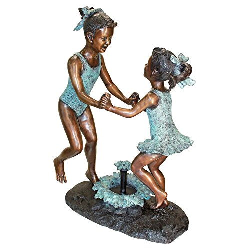 Dancing Girls Bronze Garden Statue