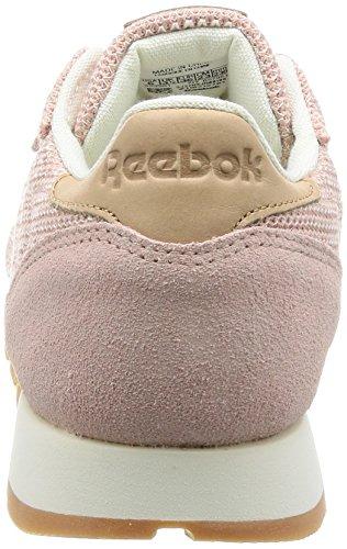 Leather Chaussures De Reebok Multicolore Cl Chalk Ebk Pink shell Ash lilas Femme Rose Gum Vegtan Gymnastique Lilac 4qww5f